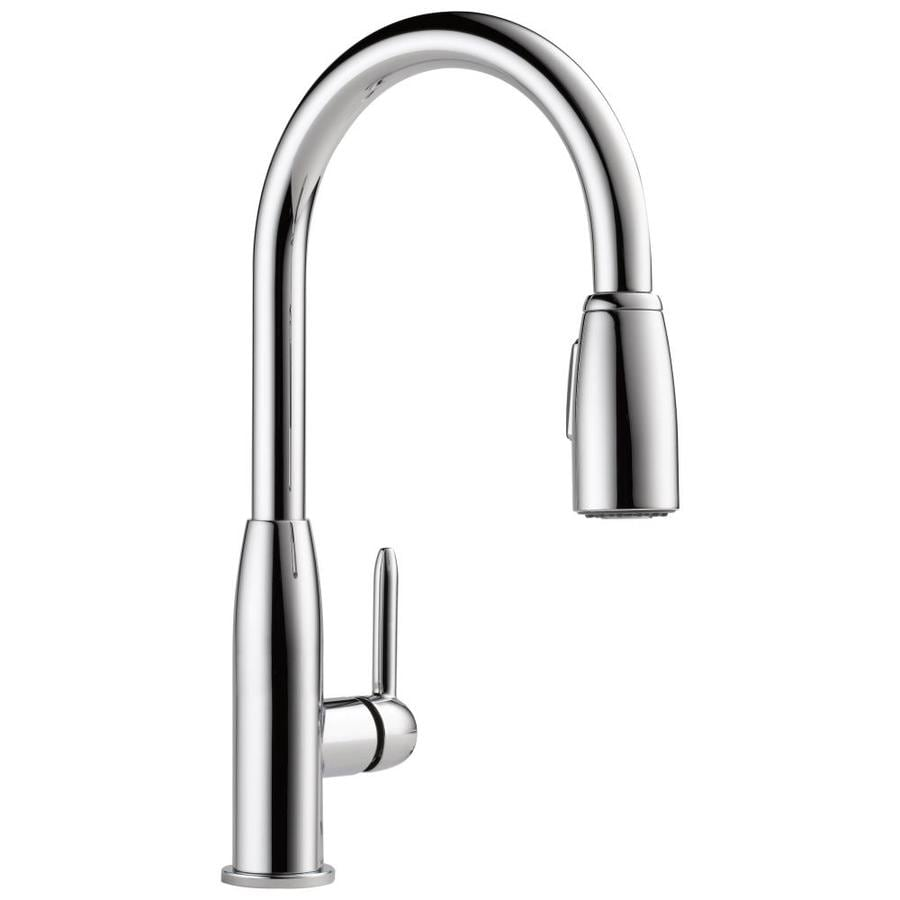 Peerless Apex Chrome 1-handle Pull-down Deck Mount Kitchen Faucet
