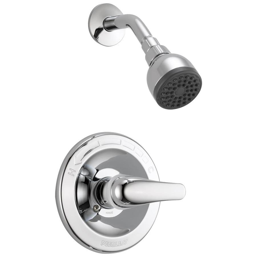 Peerless Chrome 1-Handle WaterSense Bathtub and Shower Faucet with Single Function Showerhead