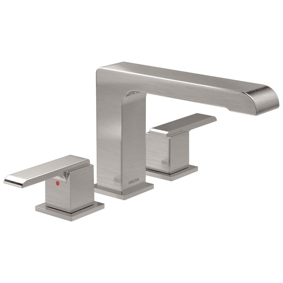 Delta Ara Stainless 2-Handle Deck Mount Bathtub Faucet