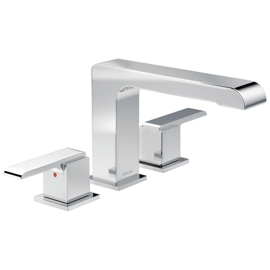 Delta Ara Chrome 2-Handle Deck Mount Bathtub Faucet