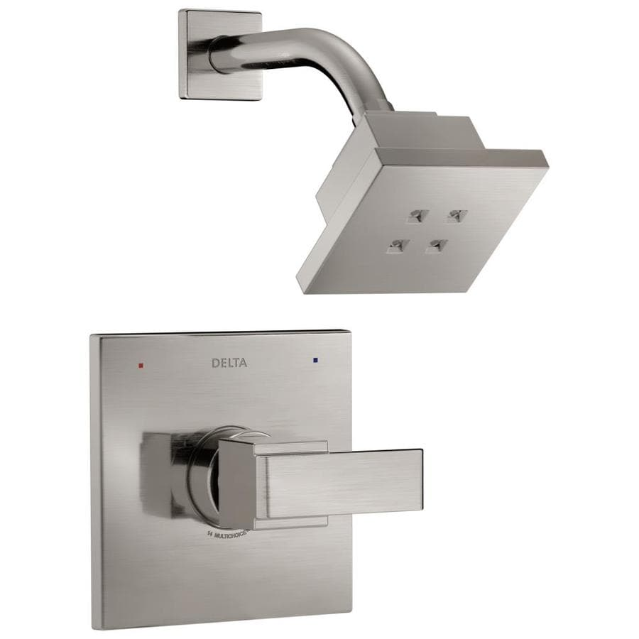 Delta Ara Stainless 1-Handle WaterSense Shower Faucet Trim Kit with Single Function Showerhead