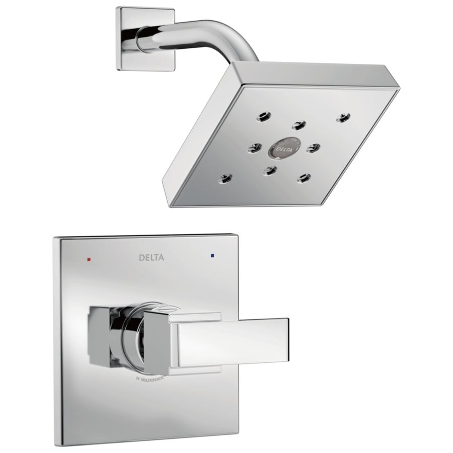 Delta Ara Chrome 1-Handle WaterSense Shower Faucet Trim Kit with Single Function Showerhead