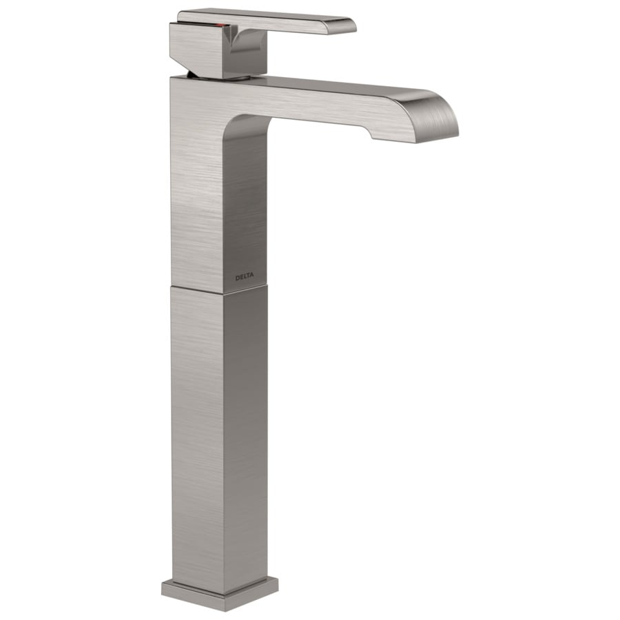 Delta Ara Stainless 1-handle Single Hole Bathroom Sink Faucet