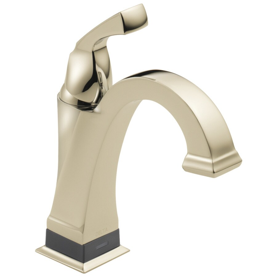 Delta Dryden Polished Nickel 1-Handle 4-in Centerset WaterSense Bathroom Faucet (Drain Included)