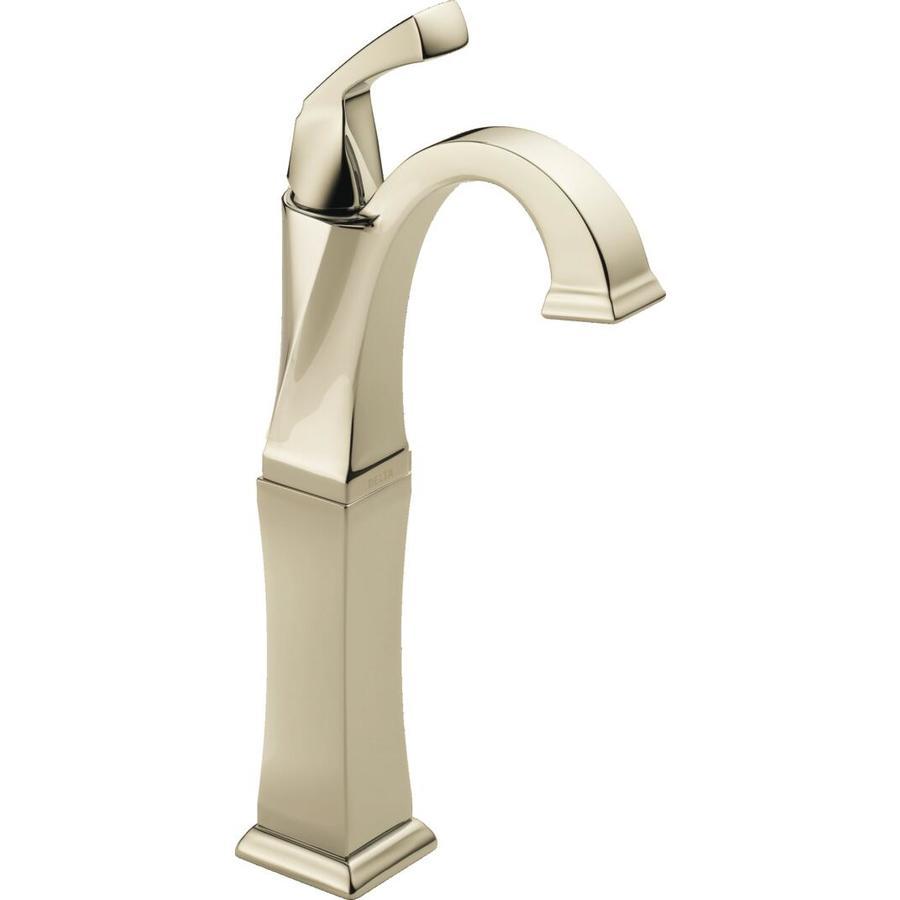 Delta Dryden Polished Nickel 1-Handle 4-in Centerset WaterSense Bathroom Faucet
