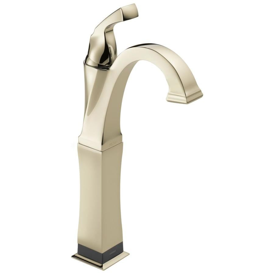 Delta Dryden Polished Nickel 1-Handle 4-in Centerset WaterSense Bathroom Faucet
