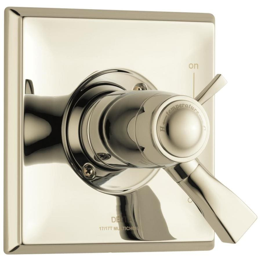 Delta Dryden Polished Nickel 1-Handle Shower Faucet Trim Kit with Sold Separately Showerhead