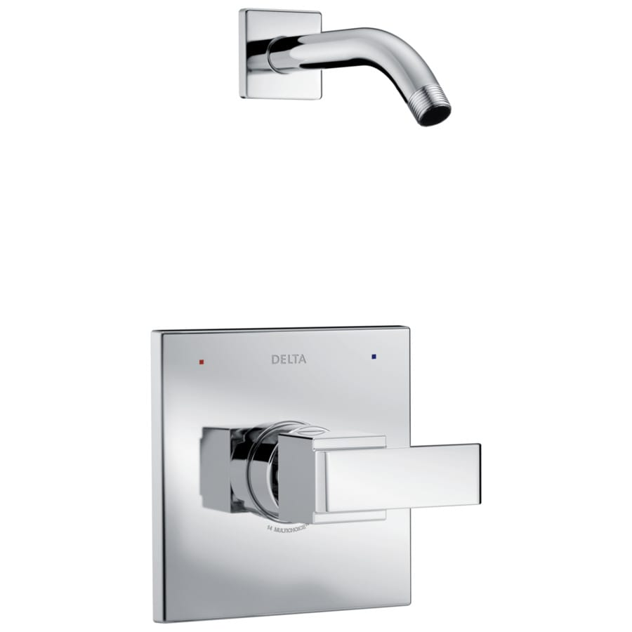 Delta Ara Chrome 1-Handle Shower Faucet Trim Kit with Sold Separately Showerhead