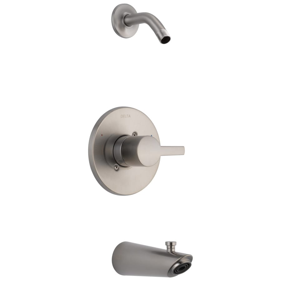 Delta Compel Stainless 1-Handle Bathtub and Shower Faucet