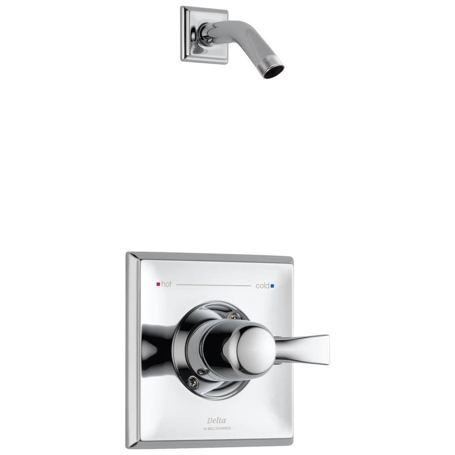 Delta Dryden Chrome 1-Handle Shower Faucet Trim Kit with Sold Separately Showerhead