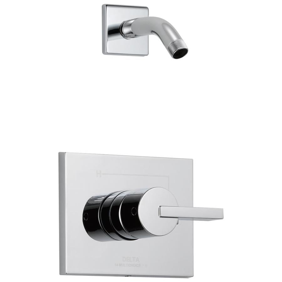 Delta Vero Chrome 1-Handle Shower Faucet Trim Kit with Sold Separately Showerhead