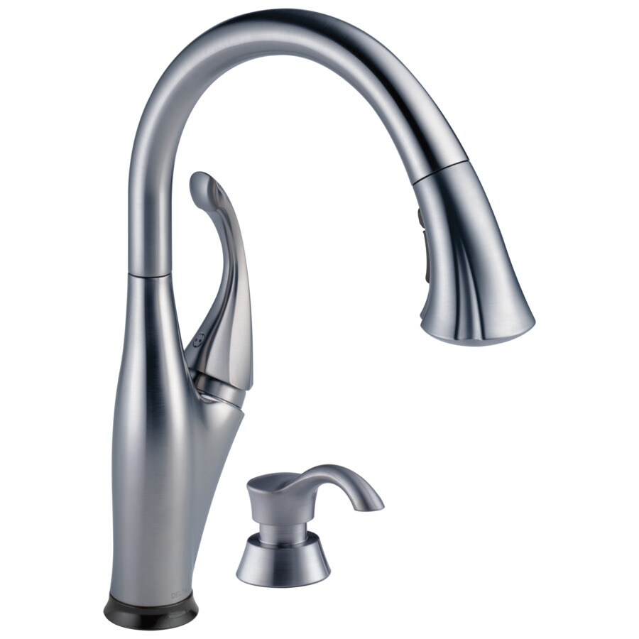 Delta Addison Touch2O Arctic Stainless 1-handle Deck Mount Pull-down Touch Kitchen Faucet