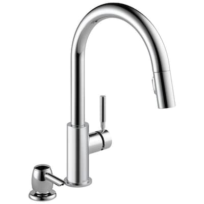 Trask Chrome 1-handle Deck Mount Pull-down Kitchen Faucet