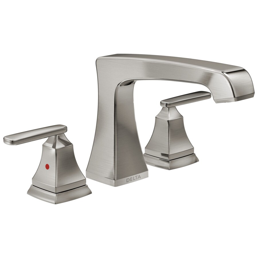 Shop Delta Ashlyn Stainless 2-Handle Fixed Deck Mount Bathtub Faucet ...