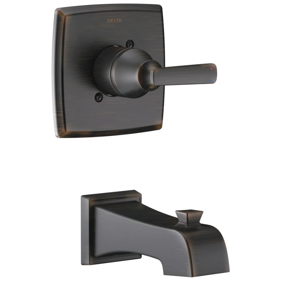 Delta Ashlyn Venetian Bronze 1-Handle Shower Faucet Trim Kit with Sold Separately Showerhead