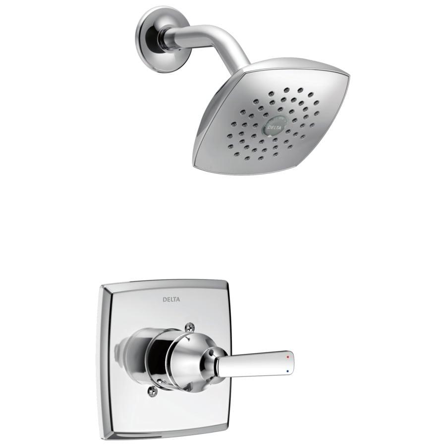 Delta Ashlyn Chrome 1-Handle WaterSense Shower Faucet Trim Kit with Single Function Showerhead