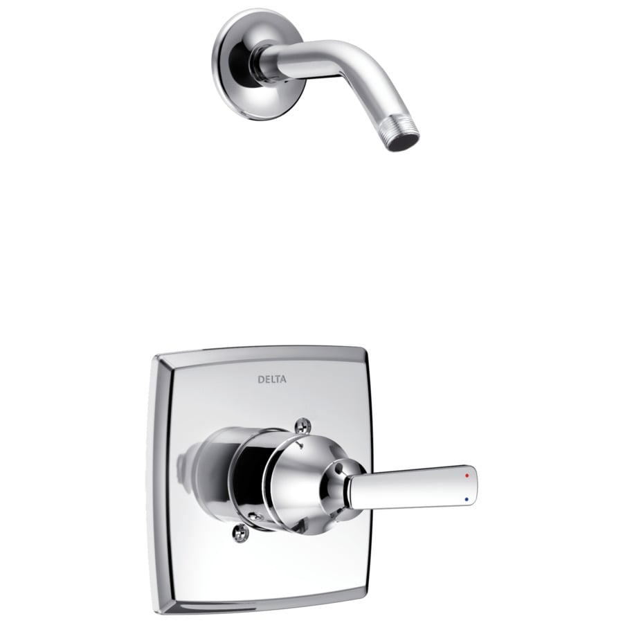 delta ashlyn chrome 1handle shower faucet trim kit with sold separately showerhead