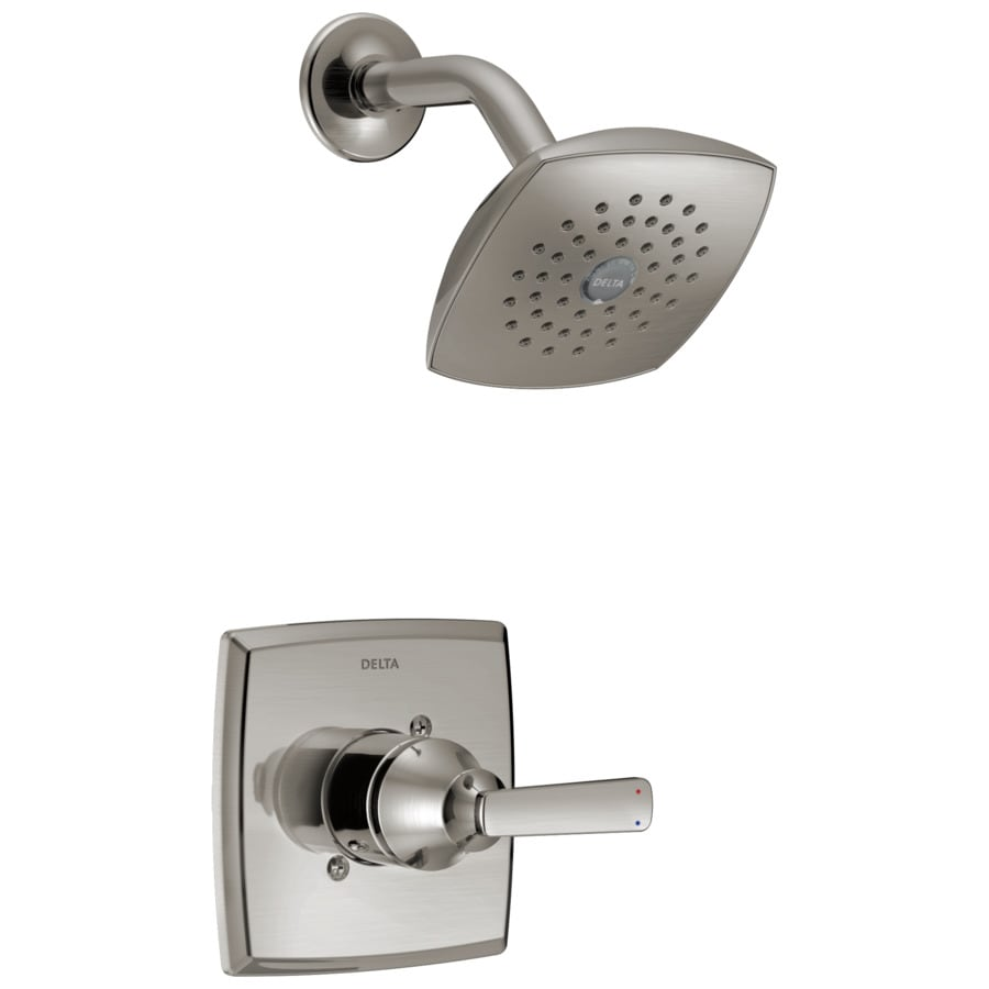 Delta Ashlyn Stainless 1-Handle WaterSense Shower Faucet Trim Kit with Single Function Showerhead