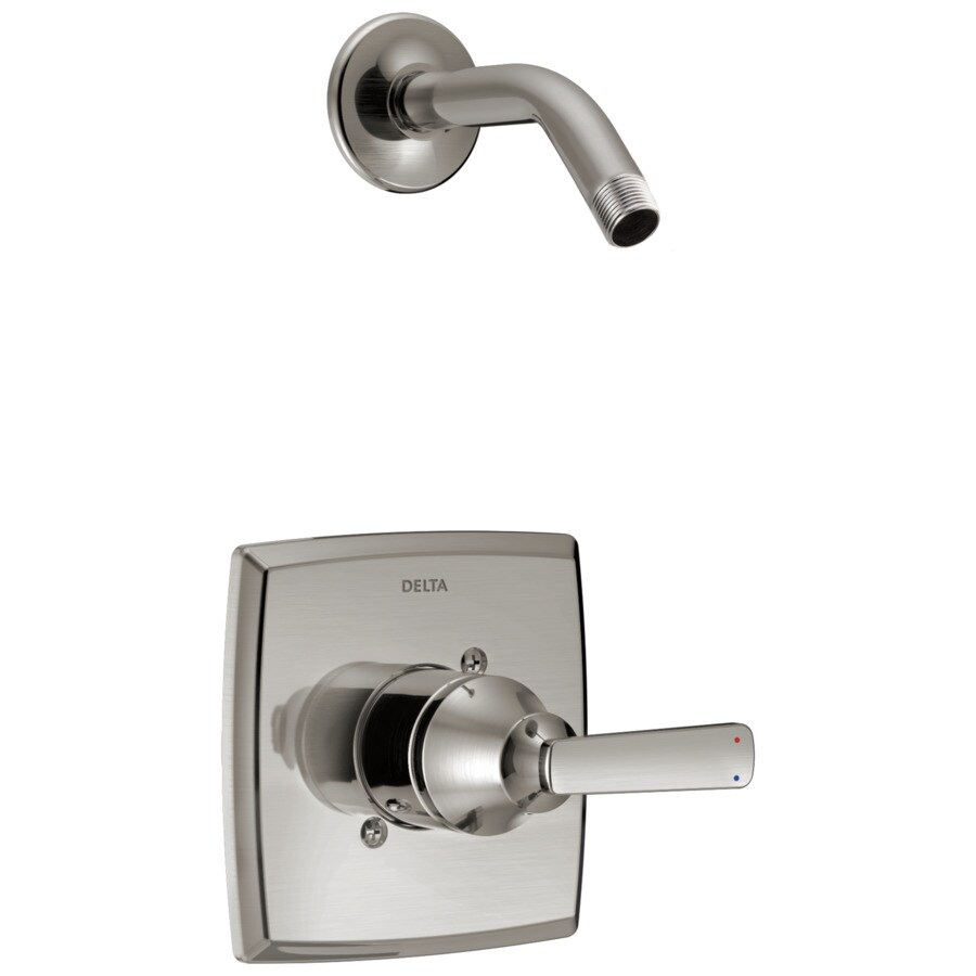Delta Ashlyn Stainless 1-Handle Shower Faucet Trim Kit with Sold Separately Showerhead