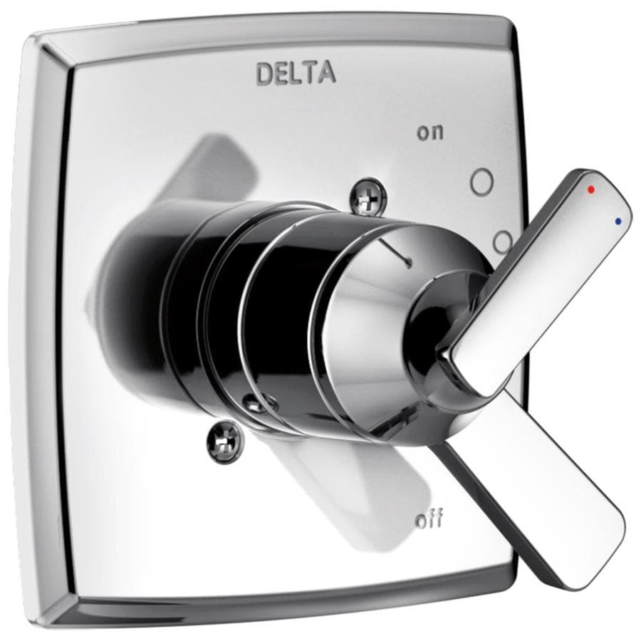 Delta Ashlyn Chrome 1-Handle Shower Faucet Trim Kit with Sold Separately Showerhead