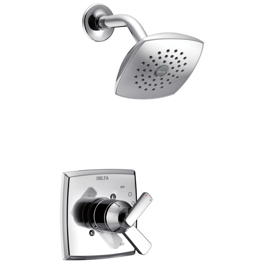 Delta Ashlyn Chrome 1-Handle WaterSense Shower Faucet Trim Kit with Single Function Showerhead
