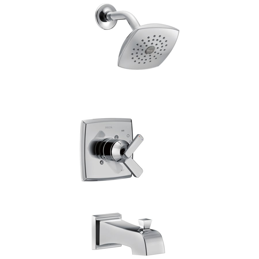 Delta Ashlyn Chrome 1-Handle WaterSense Bathtub and Shower Faucet Trim Kit with Single Function Showerhead