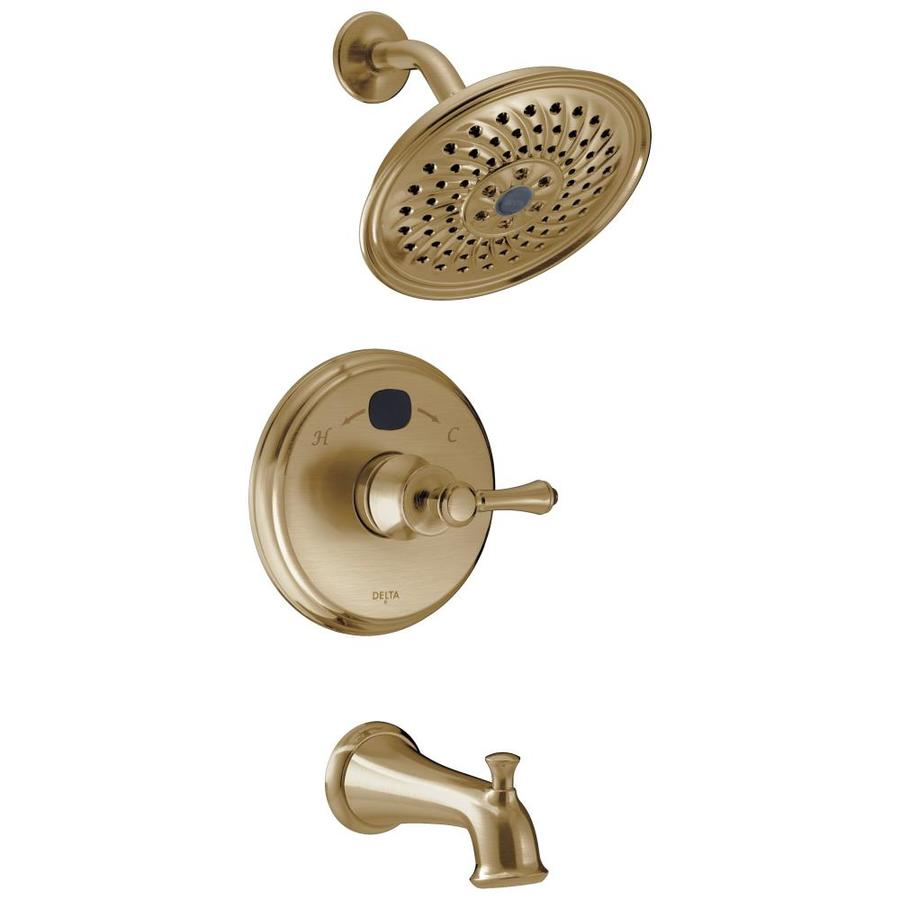 Delta Champagne Bronze 1-Handle WaterSense Bathtub and Shower Faucet Trim Kit with Single Function Showerhead