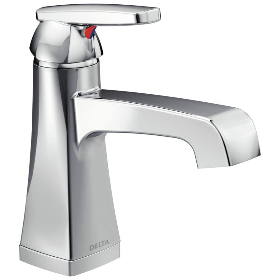 Delta Ashlyn Chrome 1-Handle 4-in Centerset WaterSense Bathroom Faucet (Drain Included)