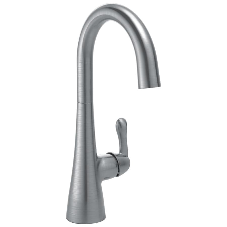 Delta Arctic Stainless 1-Handle Deck Mount High-Arc Bar and Prep Faucet