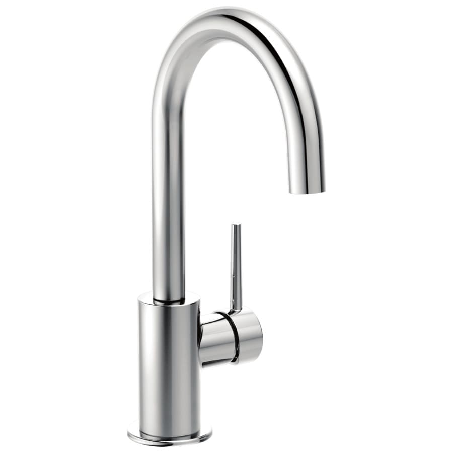 shop delta trinsic chrome 1 handle kitchen faucet at lowes com