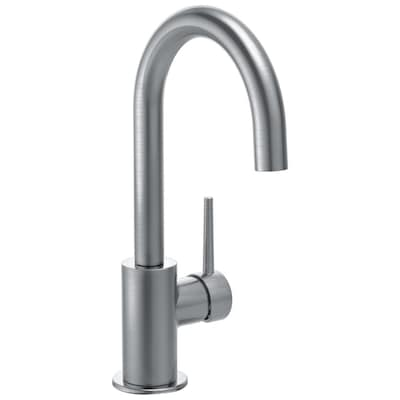 Trinsic Arctic Stainless 1-handle Deck Mount High-arc Kitchen Faucet