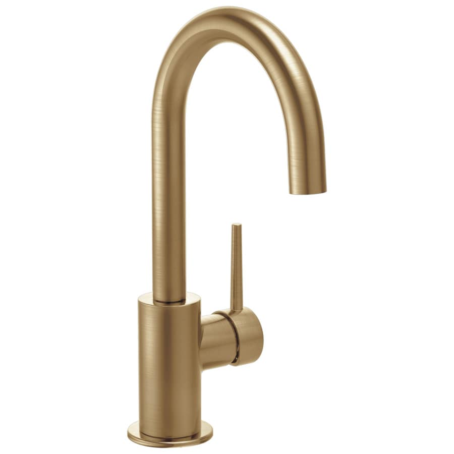 Delta Trinsic Champagne Bronze 1-Handle Bar and Prep Faucet