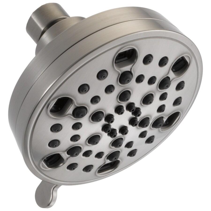 Delta 4.18-in 2.0-GPM (7.6-LPM) Stainless 5-Spray WaterSense Showerhead