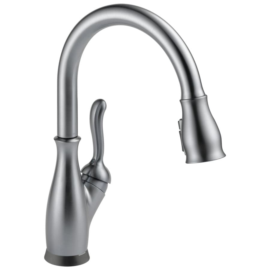 Delta Leland Touch2O Arctic Stainless 1-handle Pull-down Deck Mount Kitchen Faucet