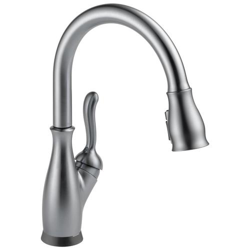 Delta Leland Touch2O Arctic Stainless 1-Handle Deck Mount Pull-down Touch  Residential Kitchen Faucet at Lowes.com