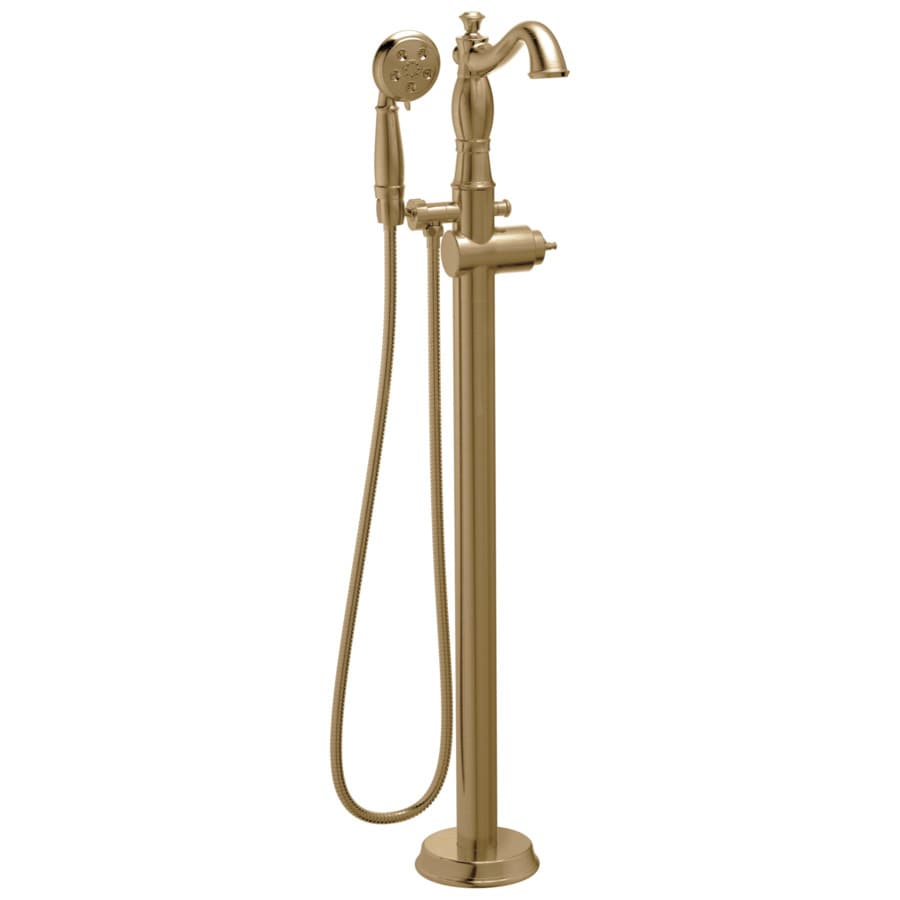 Delta Cassidy Champagne Bronze Fixed Freestanding Bathtub Faucet