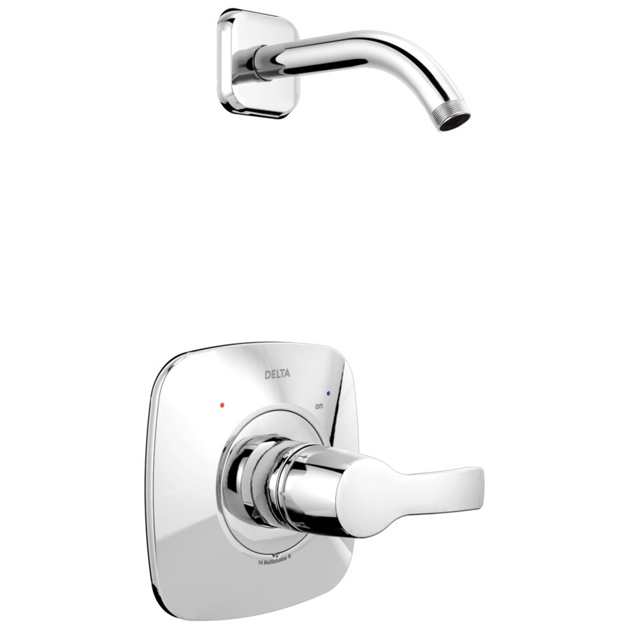 Delta Tesla Chrome 1-Handle Shower Faucet Trim Kit with Sold Separately Showerhead