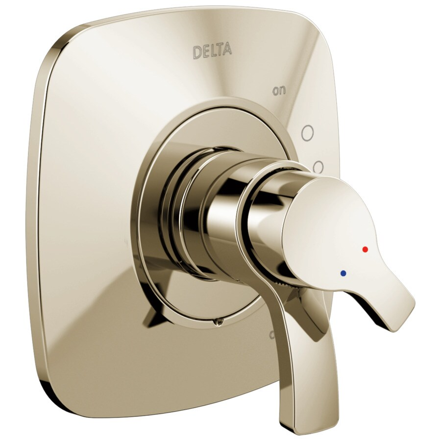Delta Tesla Polished Nickel 2-Handle Shower Faucet Trim Kit with Sold Separately Showerhead