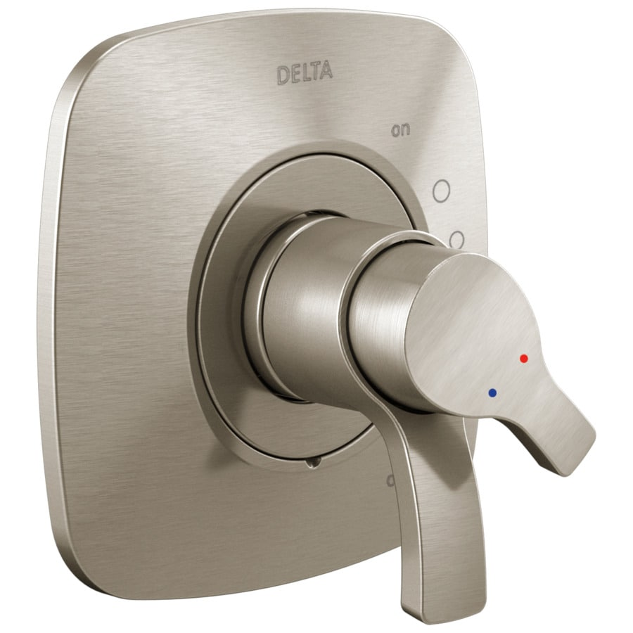 Delta Tesla Stainless 2-Handle Shower Faucet Trim Kit with Sold Separately Showerhead