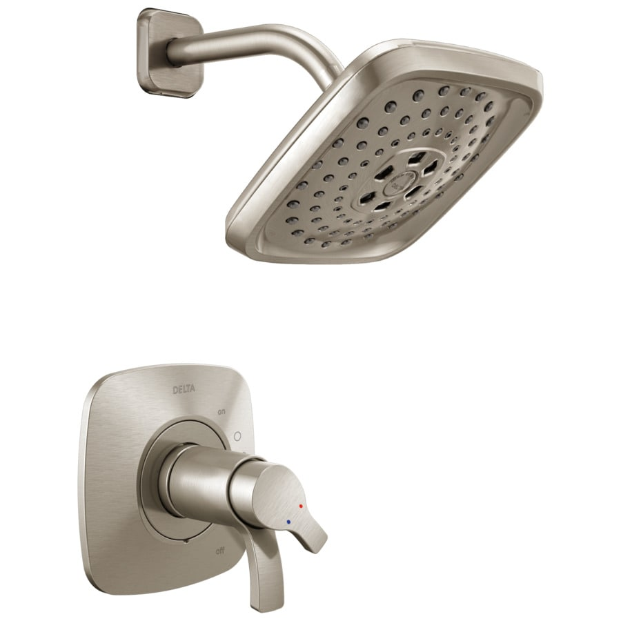 Delta Tesla Stainless 2 Handle Shower Faucet At Lowes Com