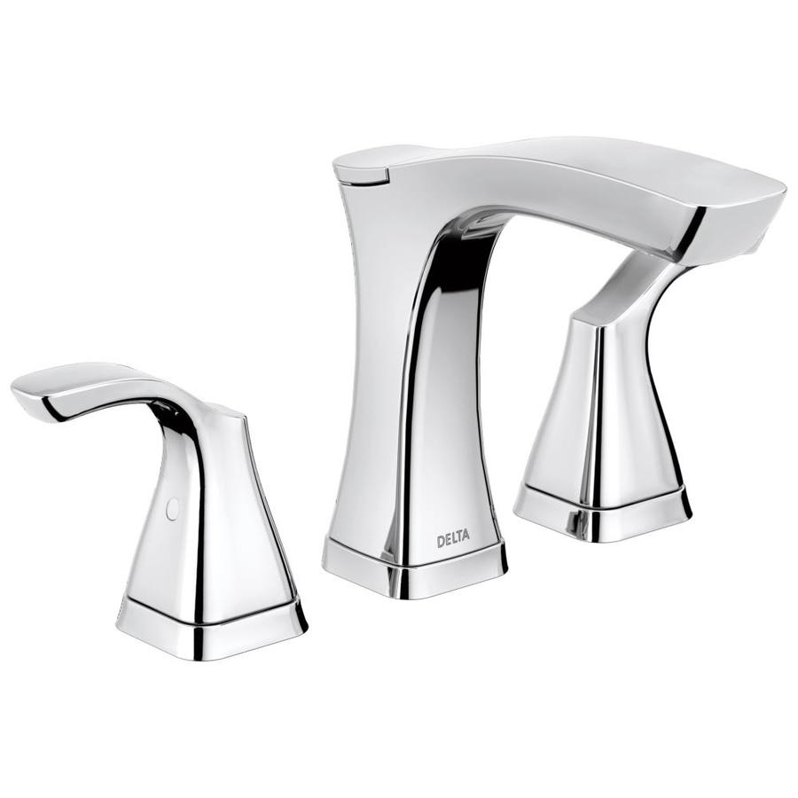 Delta Tesla Chrome 2-handle Widespread Bathroom Sink Faucet