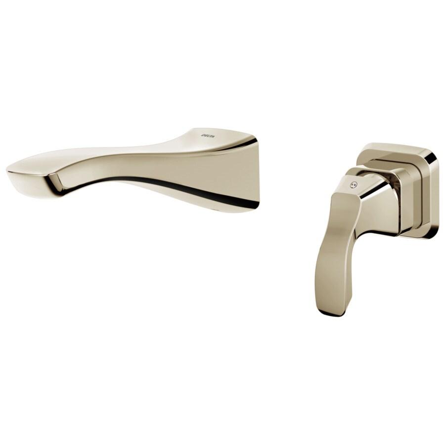 Delta Tesla Polished Nickel 1-Handle 4-in Centerset WaterSense Bathroom Faucet