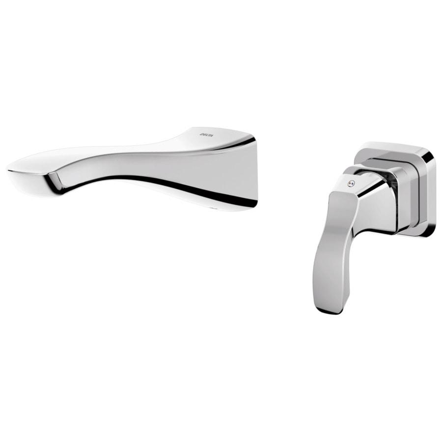 Delta Tesla Chrome 1-Handle 4-in Centerset WaterSense Bathroom Faucet
