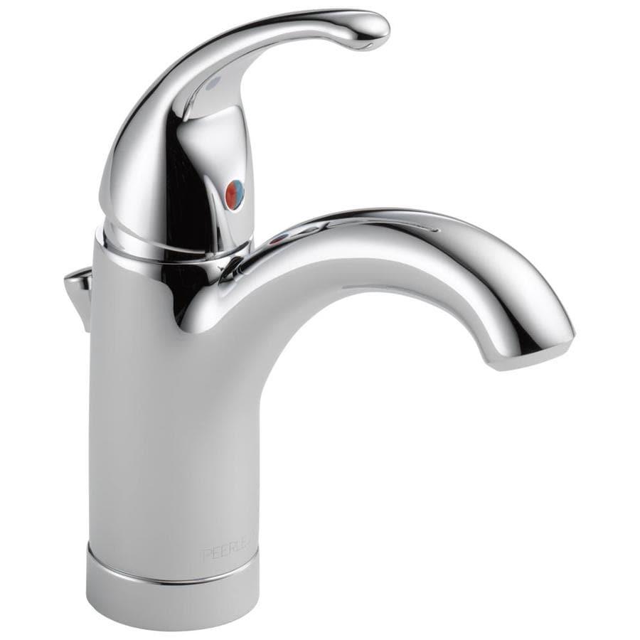 Peerless Apex Chrome 1-Handle 4-in Centerset WaterSense Bathroom Faucet (Drain Included)