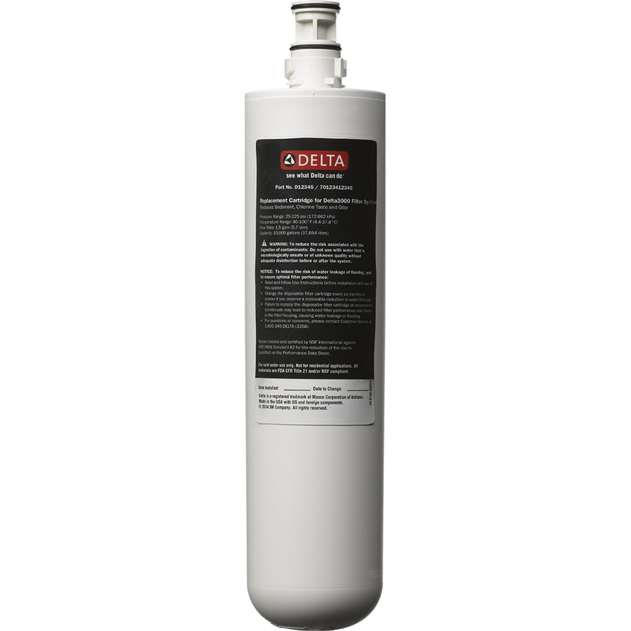 Delta 13.875-in x 3.375-in x 3.375-in Under Sink Replacement Filter