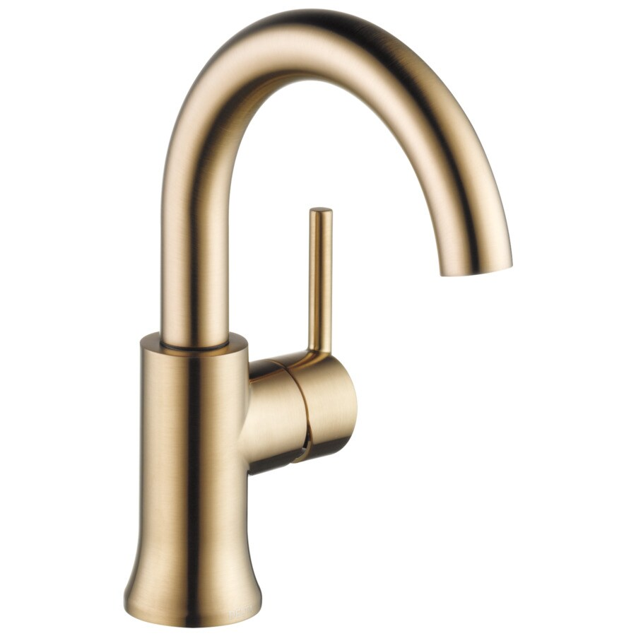 Shop Delta Trinsic Champagne Bronze 1 Handle 4 In Centerset Bathroom Sink Faucet At