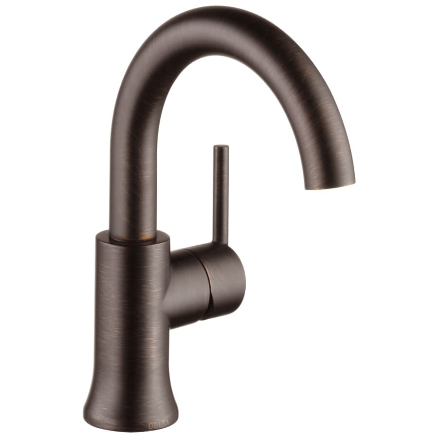 Shop Delta Trinsic Venetian Bronze 1 Handle Single Hole Bathroom Sink Faucet At