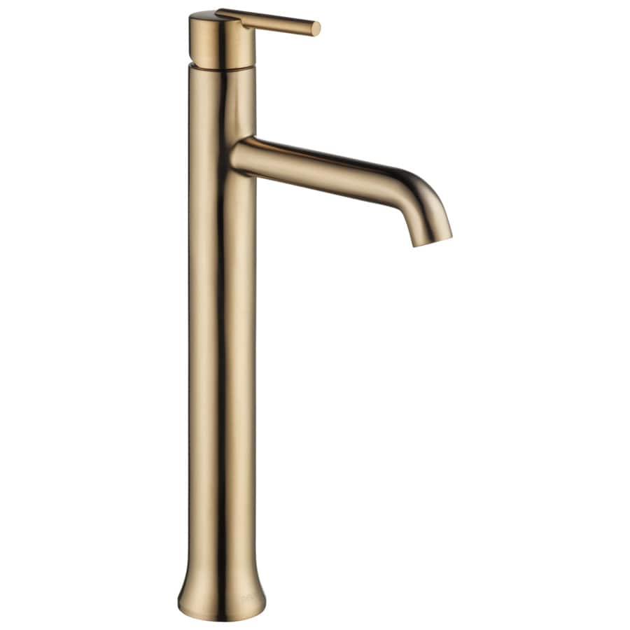 Shop Delta Trinsic Champagne Bronze 1 Handle Vessel Bathroom Sink Faucet At