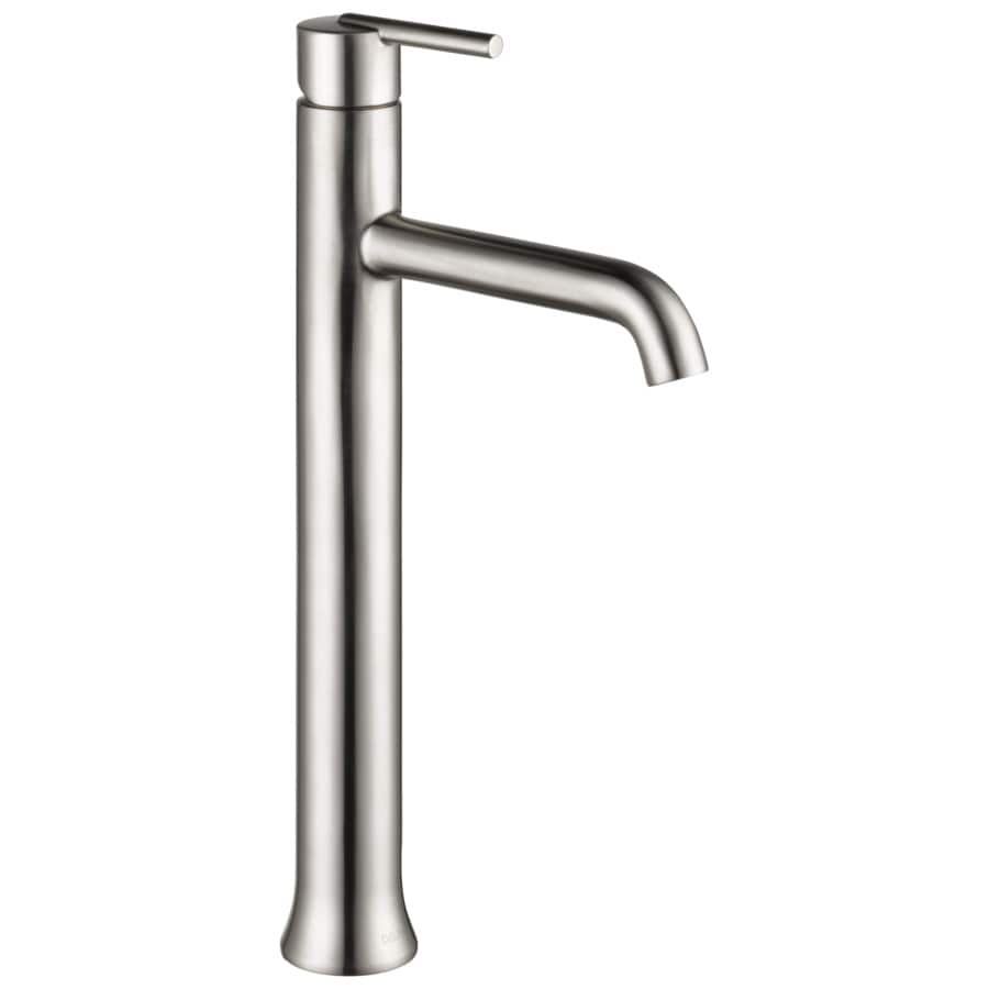 Delta Trinsic Stainless 1-Handle 4-in Centerset WaterSense Bathroom Faucet