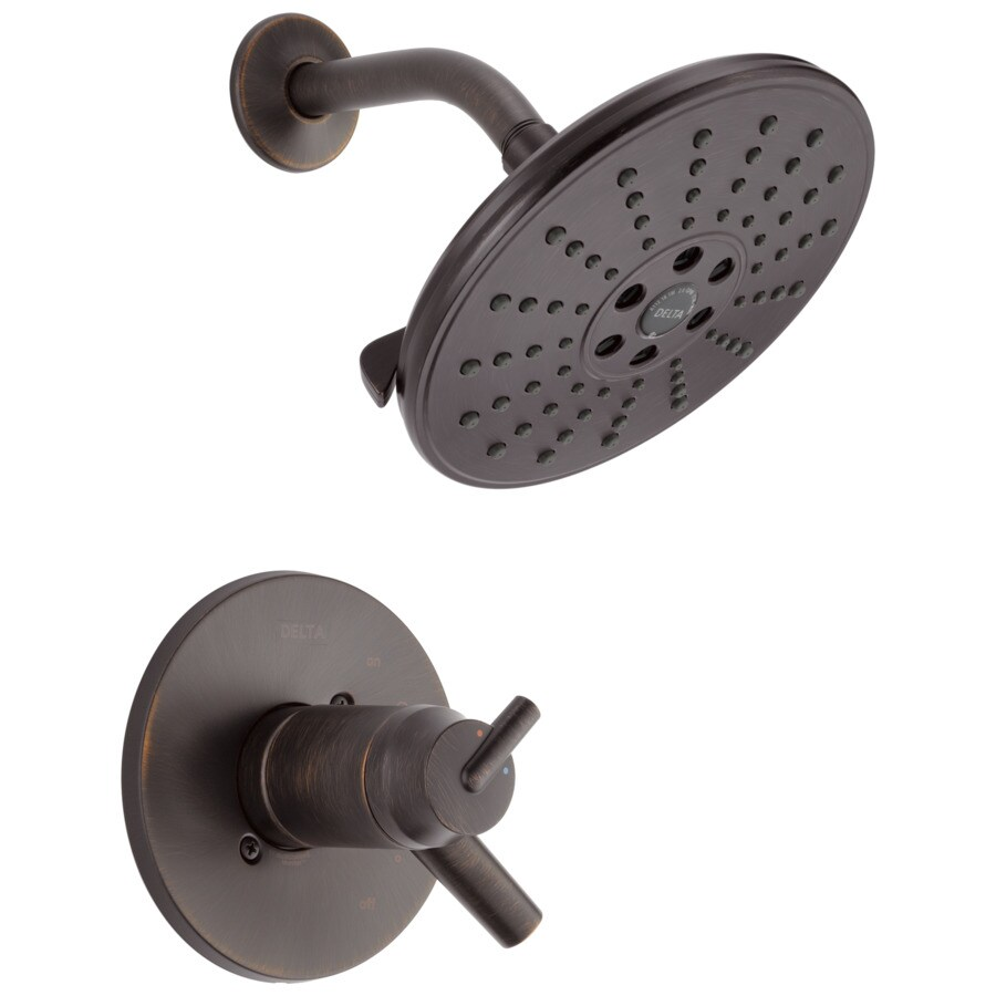 Delta Trinsic Venetian Bronze 2-Handle WaterSense Shower Faucet Trim Kit with Single Function Showerhead